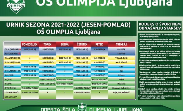 Urnik 2021/2022